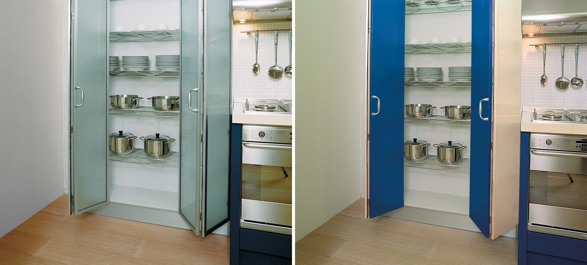 Sliding system for concertina doors
