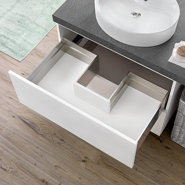 Sink waste cut-out drawer - 3-sided - H 180 mm-1