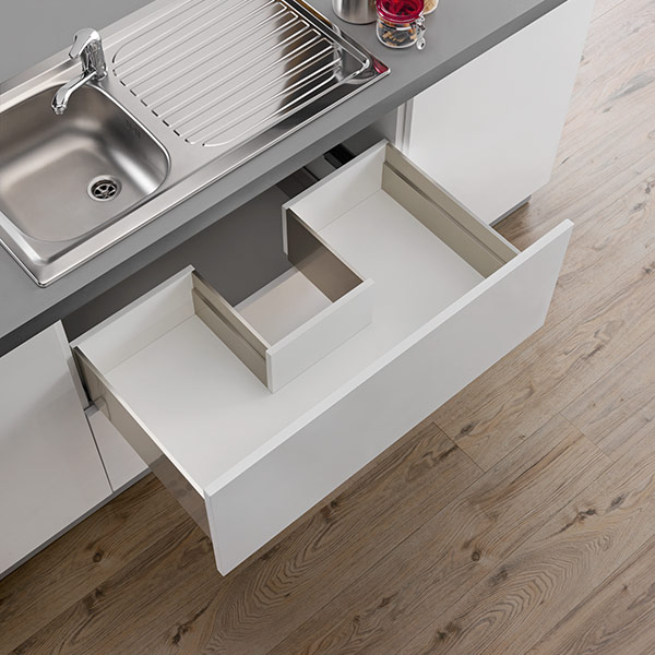 LINEABOX Sink waste cut-out drawer - 2-sided - H 180 mm-1