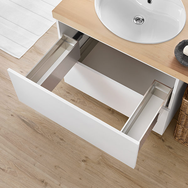Under-sink drawer - 3-sided - H 180 mm-1