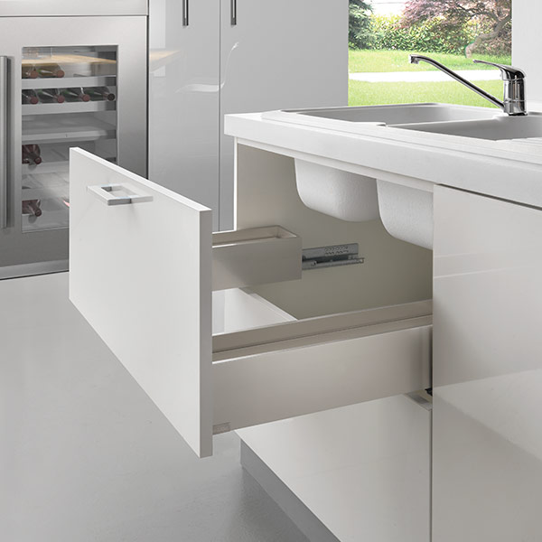 LINEABOX Under-sink drawer - 3-sided - H 104 mm-1
