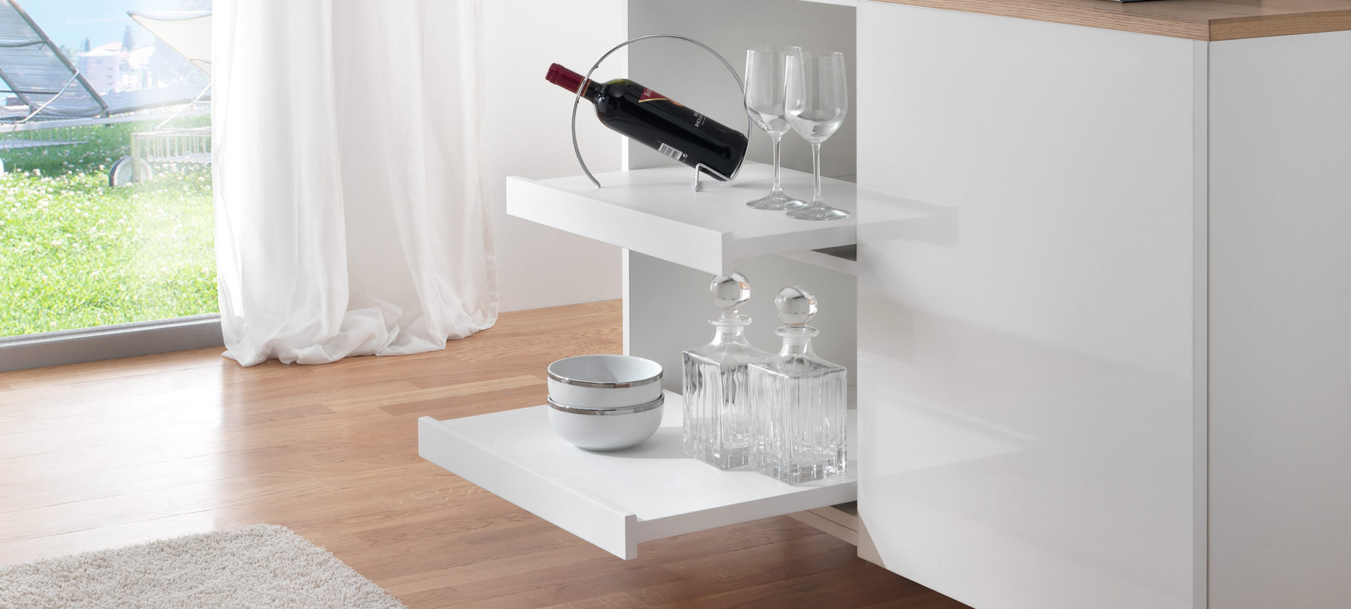 Shelf, la coulisse pour tablette coulissante