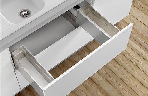 Lineabox - Sink waste cut-out and under-sink drawer