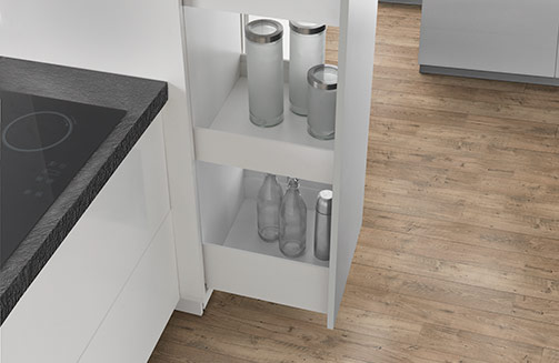 Lineabox - Pull-out column unit and pull-out high storage units