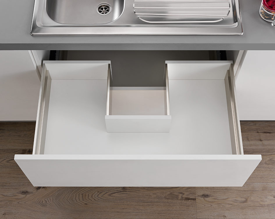 LINEABOX Sink waste cut-out drawer - 2-sided - H 180 mm-2