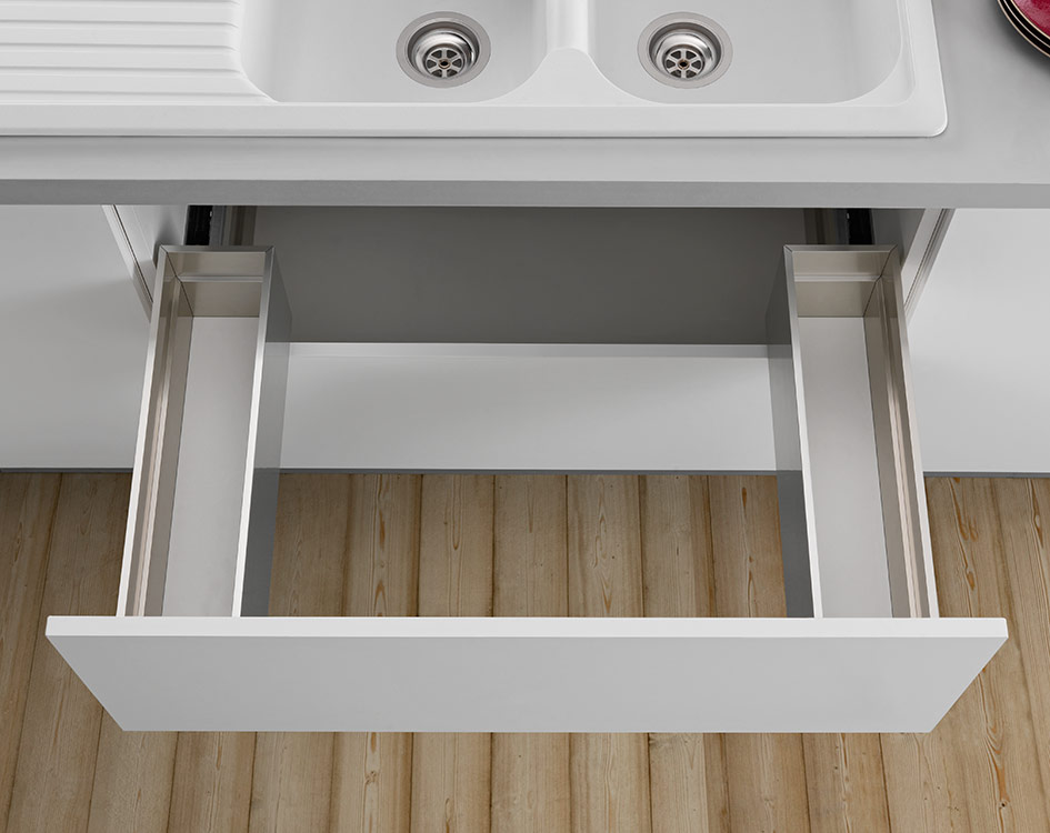 Under-sink drawer - 3-sided - H 180 mm-2