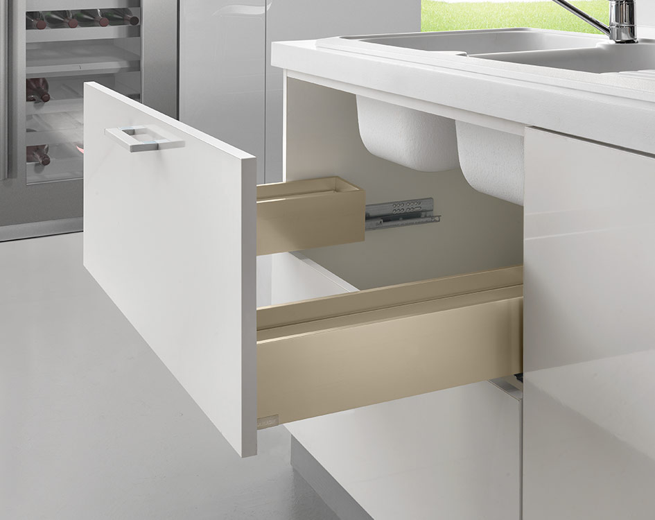 LINEABOX Under-sink drawer - 3-sided - H 104 mm-2